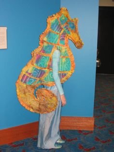 Side of seahorse costume
