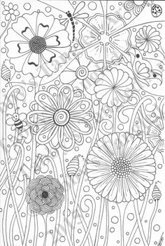Bubble Flowers by TabbysTangledArt on Etsy