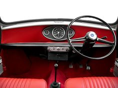 The source of design inspiration to the Mark I collection, the iconic dashboard found in classic Minis Mini Cooper Classic, Classic Mini, Red Mini Cooper, Mini Cooper Clubman, Mini Countryman, Classic Cars, Austin Mini, Mini Morris, Morris Minor