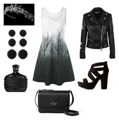 """""""Danger"""" by saanvim on Polyvore featuring Versus, Bamboo, Kate Spade and Cara"""