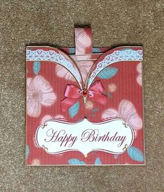 Red Floral Vintage Pocket Birthday Card by TheBlenheimCardCo
