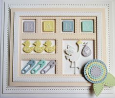Sue Wilson Designs - Die - Shadow Box Collection - New Arrival Baby Boy Cards, New Baby Cards, Baby Shower Cards, Sue Wilson, Heartfelt Creations, Baby Motiv, Spellbinders Cards, Handmade Baby, Handmade Cards