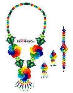 HUICHOL Necklace SET-Amalia