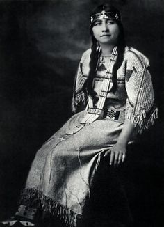 "Ella Deloria (Yankton Sioux) 1889-1971, became a renowned scholar of the Dakota language and culture. She produced a huge body of work including books on Dakota society, Sioux grammar and a Sioux Dictionary. In 1944 she published ""Speaking of Indians"". From that book, on the question of the first human inhabitants of America she stated: ""The vital concern is not where a people came from physically, but where they are going, spiritually."" also attended Oberlin college in Ohio"
