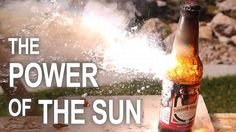 Burning Stuff With 2000ºF Solar Power!! this guy creates a real action sun beam !