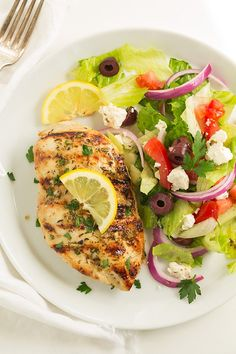 Grilled Greek Lemon Chicken | Cooking Classy
