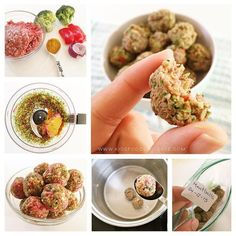 I call these all purpose meatballs, I cook a big batch and freeze it so that I always have them in hand for busy days. you can serve them as finger food, you can add them to vegetable purees, you can add them to tomato sauces, I use the boil water as stock and cook …