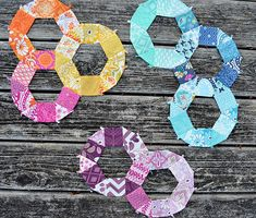 English paper piecing rings (photo only)   #quilting #paper_piecing