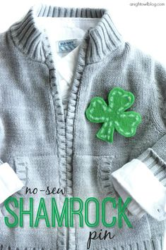 Be pinch-proof this St. Patrick's Day with this EASY No-Sew Shamrock Pin!