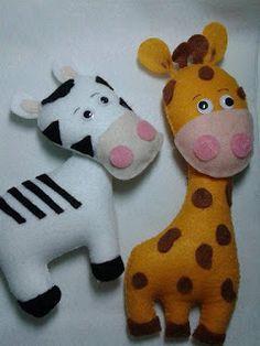 Eu quem fiz!!!: Girafa e Zebra