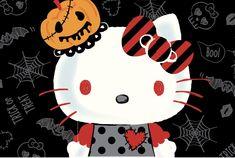 Hello Kitty Halloween Hello Kitty Halloween Costume, Spooky Halloween, Halloween Party, Halloween Costumes, Hello Kitty Images, Sanrio Wallpaper, Holiday Pictures, Time To Celebrate, Minnie