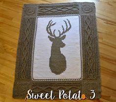 crochet deer reindeer blanket                                                                                                                                                                                 More