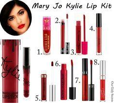 Dupes Mary Jo Kylie Lip kit                                                                                                                                                     Plus