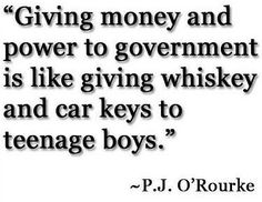 Giving money and power to the government