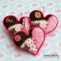 Crochet pattern patchwork heart DIY by VendulkaM on Etsy