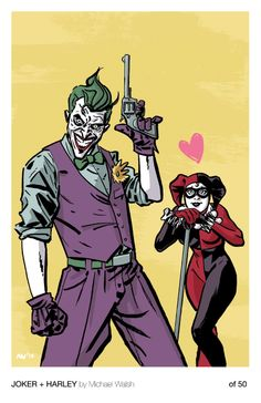 Joker and Harley Quinn. I like this simple Joker outfit. Comic Book Characters, Comic Books Art, Comic Art, Gotham Girls, Artist Alley, Video X, Joker Art, Batman Comics, Batman Arkham