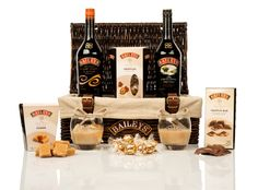 The Baileys Hamper Gift Hampers, Gift Baskets, Baileys Irish Cream, Discount Designer, Truffles, Diy Gifts, Branding Design, Bar, Brand Design