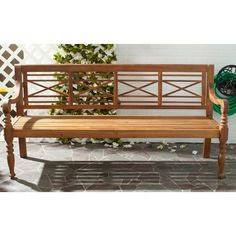 coral coast amherst curved back 5 ft outdoor wood garden bench