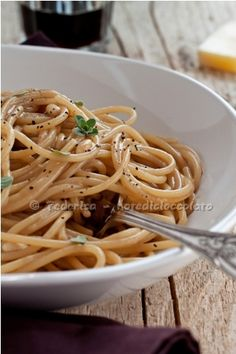 Spaghetti alla birra e pecorino