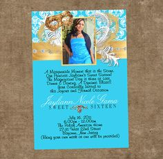 Masquerade Quinceanera Invitations Invitaciones de Mascara Printable Digital