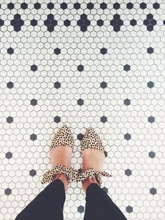 Leopard print flats are always in.