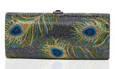 "Beautiful ""peacock"" evening/special occasion Judith Leiber bag."