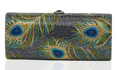 "Beautiful ""peacock"" evening/special occasion Judith Leiber bag."