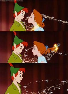 Peter Pan and Tinkerbell Disney Pixar, Walt Disney, Disney Animation, Disney And Dreamworks, Disney Magic, Peter Pan And Tinkerbell, Peter Pan Disney, Disney Dream, Disney Love