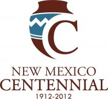 New Mexico Centennial logo symbolized with traditional Native Indian pottery