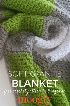 Soft Granite Blanket - free crochet pattern on Mooglyblog.com! Make it in any size, and watch the free video tutorial - it's all included!