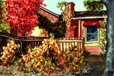 Watercolor of my house!