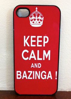 Iphone Case  Keep Calm and Bazinga iphone Cases for by fundakcases, $15.00