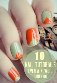 You Will Need: Tape And 2 Nail Polishes.      ;)