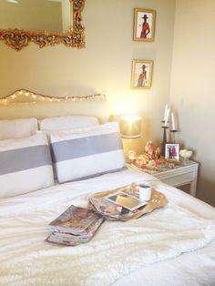 White, simple and elegant bedroom