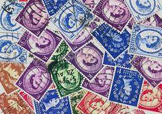 Queen Elizabeth l postage stamps by gracealleytreasures on Etsy, $3.00