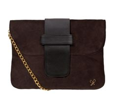 Sarah Forsyth - Sarah Jane clutch in Suede / Leather