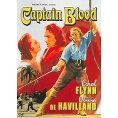 """""""Captain Blood"""" starring Errol Flynn, Olivia de Havilland (1935)"""