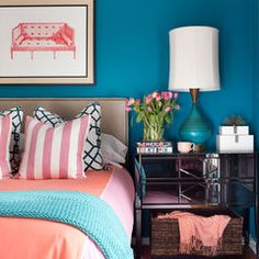 Eclectic bedroom.perfect colors for my room