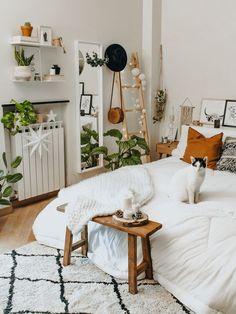 Boho Bedroom Decor, Room Ideas Bedroom, Home Bedroom, Master Bedroom, Boho Decor, Bedroom Designs, Dream Bedroom, Boho Teen Bedroom, Bedroom Ideas For Small Rooms Cozy