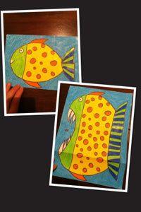 Fish or pirahna art project