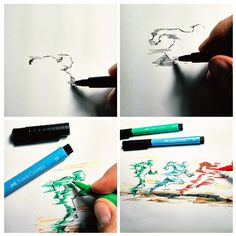 #ideiasfeitasamao com Canetas Artísticas PITT.