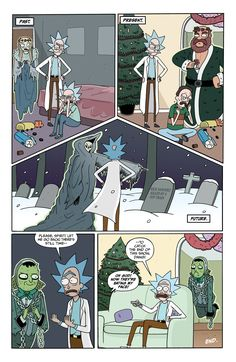 Post with 65 votes and 2009 views. Rick and Morty Christmas Carol Parody Rick And Morty Episodes, Rick And Morty Time, Rick And Morty Comic, Rick And Morty Quotes, Rick Und Morty, Rick And Morty Poster, Trippy Cartoon, Rick And Morty Tattoo, Wubba Lubba