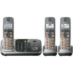 Panasonic KX-TG7743S DECT 6.0 Link-to-Cell via Bluetooth Cordless Phone with Answering System, Silver, 3 Handsets by Panasonic. $86.98. From the Manufacturer                 Panasonic KX-TG7743S DECT 6.0 3-Handset Landline Telephone Like using your cell phone a home but don't like carrying it around? Now you can make and receive cell phone calls through your multi-handset home phone system with the Bluetooth powered Panasonic Link2Cell. Simple link your cell phone via Blueto...