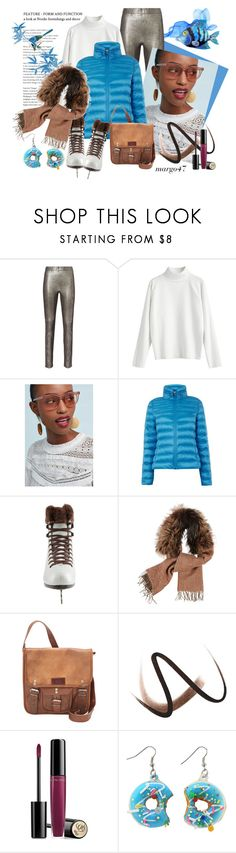 """lodowisko"" by margo47 ❤ liked on Polyvore featuring Intermix, Anthropologie, Oasis, Fendi, SHARO, Burberry and Lancôme"
