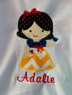 Snow White applique