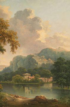 Detail from Wooded Hilly Landscape, 1785 Landscape Illustration, Watercolor Landscape, Landscape Art, Landscape Paintings, Watercolor Art, Seascape Paintings, Old Paintings, Rennaissance Art, Les Fables