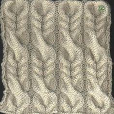 Cable Knitting Patterns, Knitting Stiches, Crochet Stitches Patterns, Knitting Designs, Knitting Projects, Baby Knitting, Stitch Patterns, Crochet Video, Crochet Yarn