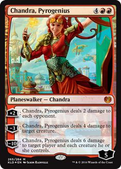 Chandra, Pyrogenius red planeswalker Magic the Gathering card