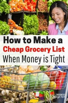 These budget meal ideas will make it easy to make a cheap grocery list. Your kids will love these basic recipes. These are fantastic ideas whether you are a college student cooking for one or you are cooking for a a family of 4 6 or even more. Basic Grocery List, Budget Grocery Lists, Cheap Grocery List, Budget Meal Planning, Budget Meals, College Grocery List, Food Budget, Groceries Budget, Money Budget