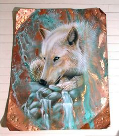 Shop for copper art from the world's greatest living artists. All copper artwork ships within 48 hours and includes a money-back guarantee. Choose your favorite copper designs and purchase them as wall art, home decor, phone cases, tote bags, and more! Beautiful Wolves, Animals Beautiful, Cute Animals, Wild Animals, Copper Wall Art, Arctic Wolf, Wolf Spirit Animal, Wolf Pictures, Majestic Animals